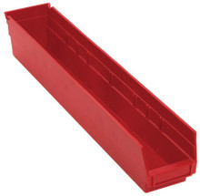 Plastic Shelf Bin - 16 Pack - 24 x 4 x 4 (VQSB105)