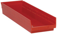 Plastic Shelf Bin - 6 Pack - 24 x 8 x 4 (VQSB114)