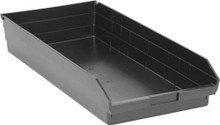 Plastic Shelf Bin - 6 Pack - 24 x 11 x 4 (VQSB116)