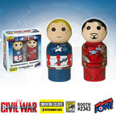 Captain America Civil War Pin Mate Wooden Figures 2-Pack Bif Bang Pow 05154