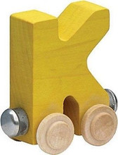Name Train - Bright Color Childrens Wooden Trains Letter K