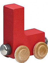 Name Train - Bright Color Childrens Wooden Trains Letter L