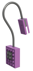 Block Light Clip on Reading Light UV Purple 353056