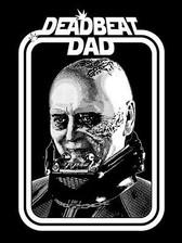 Star Wars T-Shirt Deadbeat Dad Vader small
