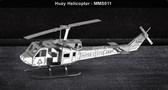 Metal Earth Huey Helicopter 3D Metal  Model + Tweezer  010114