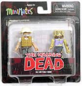 Minimates Walking Dead s1 Dale & Female Zombie figures Diamond 101070