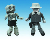 The Walking Dead Minimates Winter Coat Dale & Female Zombie Halloween 101063