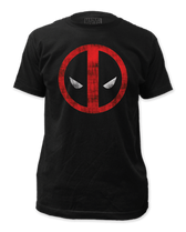 Marvel Deadpool Logo Distressed T-Shirt Small