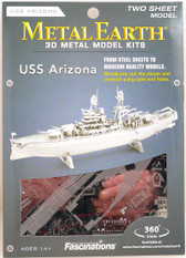 Metal Earth USS Arizona 3D Metal  Model + Tweezers  10978