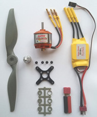 Brushless Motor+ESC+Prop Power Kit for up to 2500g RC Model Airplanes- for 4S
