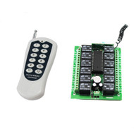 12 Channel AC DC 12V RF Wireless Remote Control Switch Receiver +Transmitter 12 CH