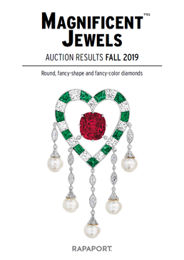 Magnificent Jewels Auction Results - Fall 2019