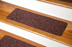 Dean Affordable Non-Skid DIY Peel & Stick Carpet Stair Treads - Color: Multicolor Tweed - Set of 13