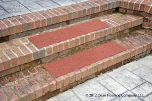 """Dean Premium Indoor/Outdoor Carpet Non Skid Stair Treads - Terra Cotta 36"""" x 9"""" (Set of 3)"""