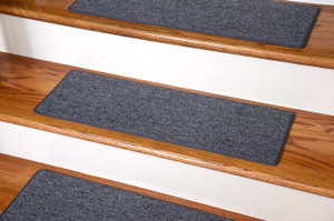 "Dean DIY Carpet Stair Treads - Stingray Gray 23"" x 8"" - Set of 13 Plus Double-Sided Tape"