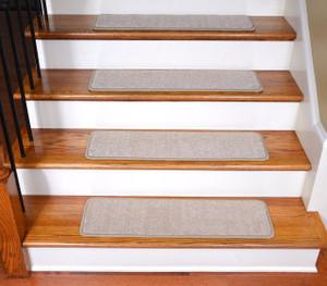 "Dean Premium Stair Gripper Tape Free Non-Slip Pet Friendly DIY Carpet Stair Treads 30""x9"" (15) - Luxor Beige"