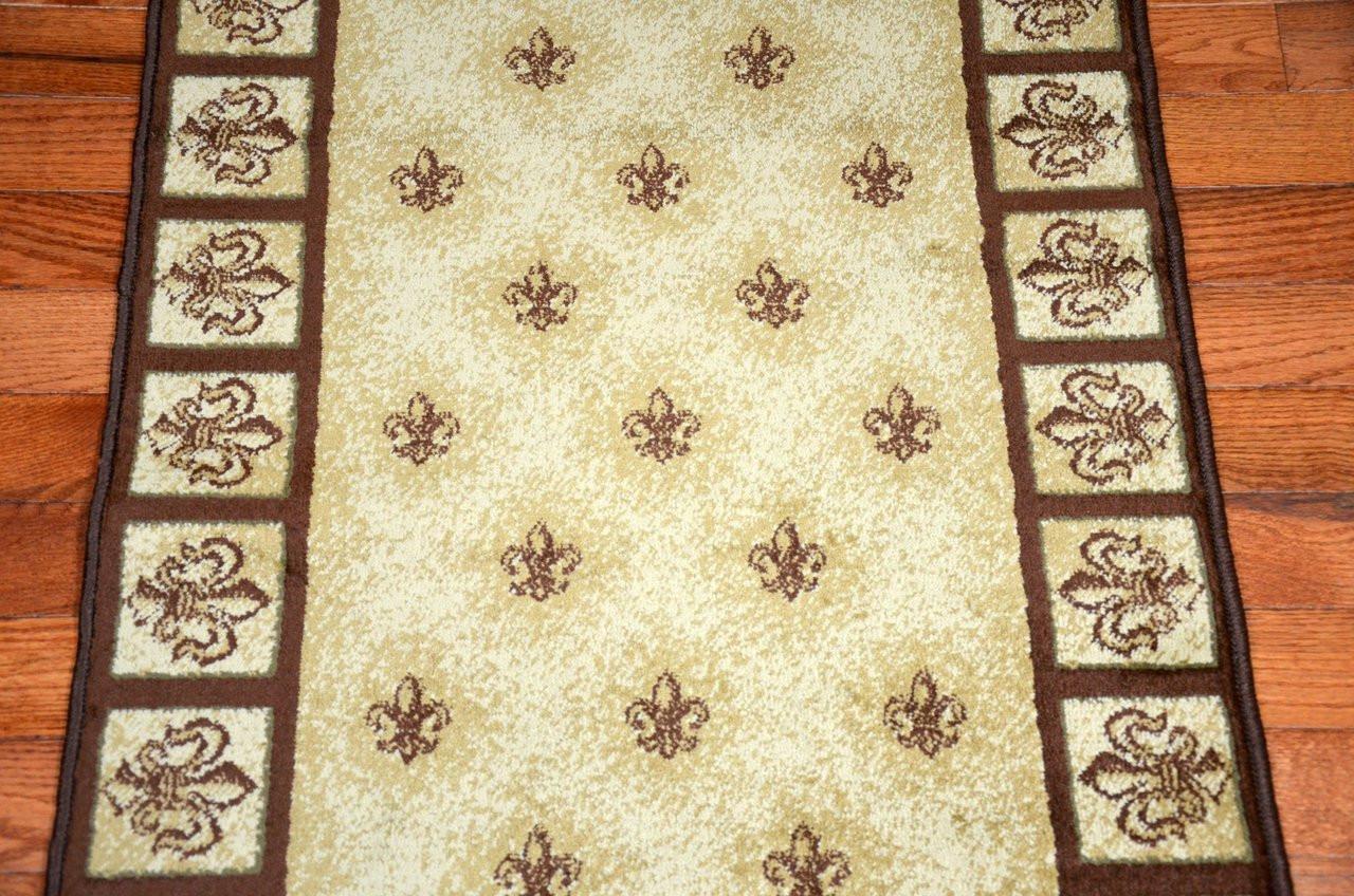 Beige Fleur De Lys Carpet Runner 31 Quot W Custom Length