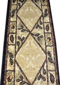 "Dean Brasstown Bald Lodge Cabin Ranch Pine Cone Area Rug 2'3"" x 7'7"""