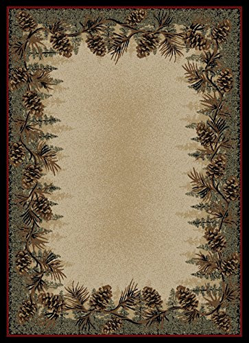 Dean Mt Le Conte Pine Cone Lodge Cabin Cottage Area Rug 7