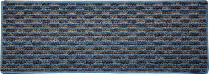 "Dean Indoor/Outdoor Pet Friendly Tape Free Non-Slip Carpet Stair Step Treads - Tybee Island Blue 23"" x 8"" (15)"