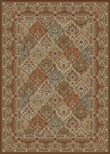 "Dean Panel Kerman Chocolate Brown Traditional Oriental Area Rug 7'10"" x 9'10"" (8x10)"