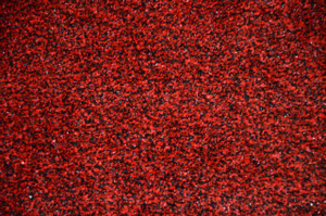 Dean Fade Resistant Indoor/Outdoor/Boat Carpet Festival Red & Black Tweed Artificial Grass Turf Area Rug with Marine Backing