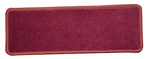 "Dean Premium Stair Gripper Non-Slip Tape Free Pet Friendly DIY Nylon Carpet Stair Treads/Rugs 23"" x 8"" (15) - Color: Cranberry"