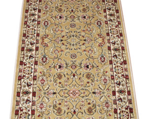 Dean Classic Keshan Gold Custom Length Carpet Rug Runner - Purchase by the Linear Foot