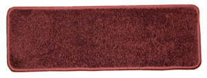 "Dean Non-Slip Tape Free Pet Friendly Stair Gripper DIY Carpet Stair Treads/Rugs 27"" x 9"" (15) - Color: Ruby Red Plush, American Made Top Quality"