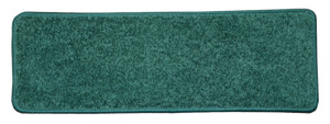 "Dean Non-Slip Tape Free Pet Friendly Stair Gripper DIY Carpet Stair Treads/Rugs 27"" x 9"" (15) - Color: Dark Green Plush, American Made Top Quality"