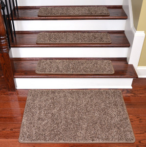 "Dean Premium Stair Gripper Tape Free Non-Slip Pet Friendly DIY Carpet Stair Treads 30""x9"" (15) Plus a Matching 2' x 3' Landing Mat - Rivers Edge"