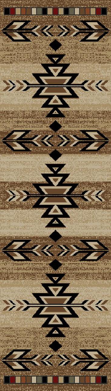 Dean Santa Fe Southwestern Lodge Cabin Carpet Runner Rug 2