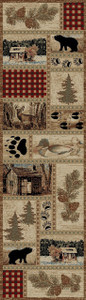 "Dean Get Away Trail Bear Lodge Cabin Bear Carpet Runner Rug Size: 2'3"" x 7'7"""