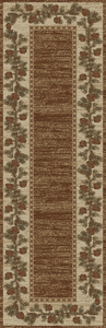 "Dean Mountain View Brown Lodge Cabin Pine Cone Carpet Runner Rug Size: 2'3"" x 7'7"""