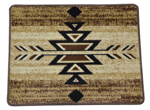 "Dean Non-Skid Pet Friendly Santa Fe Beige Southwestern Lodge Cabin Carpet Rug Runner Mat, Size: Approximately 31"" x 24"""