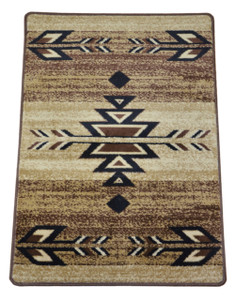 "Dean Non-Skid Pet Friendly Santa Fe Beige Southwestern Lodge Cabin Carpet Rug Runner Mat, Size: Approximately 31"" x 44"""