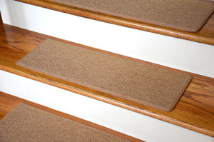 "Dean DIY Carpet Stair Treads 27"" x 9"" - Gold - Set of 13 Plus Double-Sided Tape"