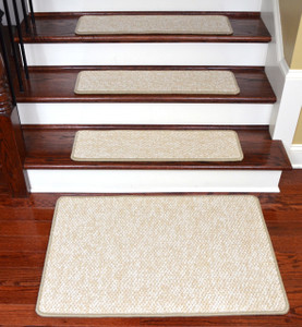 "Dean Tape Free Pet Friendly Non-skid Stair Gripper Ultra Premium Carpet Stair Treads - Nomad Grassland 30"" W (Set of 15) Plus a Matching Landing Mat (2'x3')"
