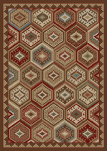 """Dean Lodge Quilt Brown Rustic Southwestern Lodge Cabin Ranch Area Rug Size: 7'10"""" x 9'10"""""""