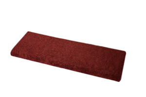Dean Premium Pet Friendly Tape and Adhesive Free Non-Slip Bullnose Carpet Stair Treads - Ruby Red Plush (3)