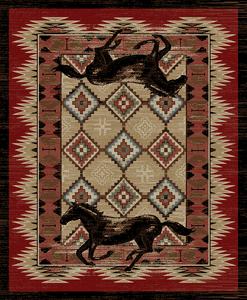 "Dean Lexington Rustic Southwestern Lodge Horse Cabin Ranch Area Rug Size: 5'3"" x 7'3"""
