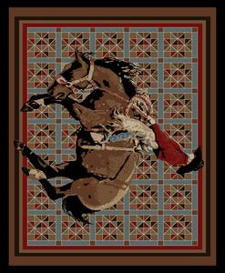 """Dean El Paso Rustic Southwestern Lodge Horse Cabin Ranch Area Rug Size: 7'10"""" x 9'10"""""""