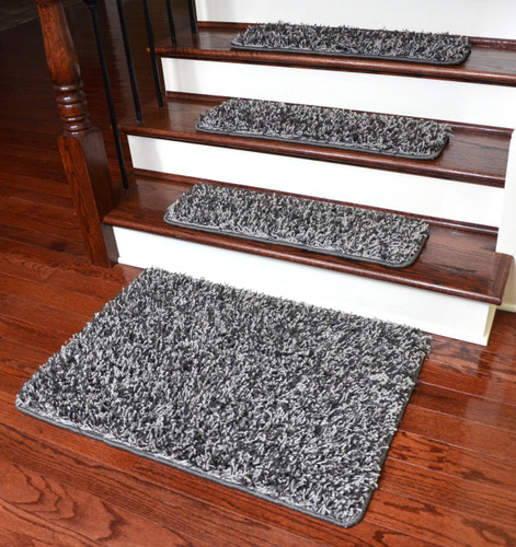 dean metal gray shag premium stair gripper tape free non. Black Bedroom Furniture Sets. Home Design Ideas