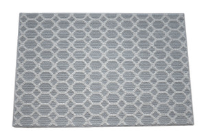 Dean Silverado Gray Stainmaster Nylon 5' x 8' Bound Carpet Area Rug