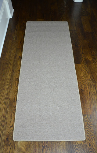 Dean New Suede Beige Washable Non Slip Carpet Kitchen Bath