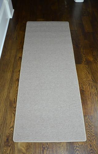 Dean New Suede Beige Washable Non Slip Carpet 27 Inch By 6