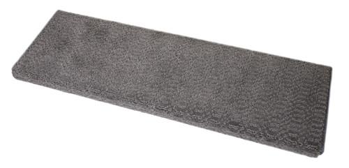Luxor Gray Bullnose Carpet Stair Treads