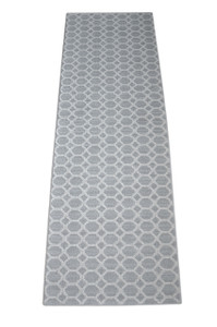 Dean Pet Friendly Silverado Gray Stainmaster Nylon 2' x 6' Bound Carpet Mat/Runner Rug