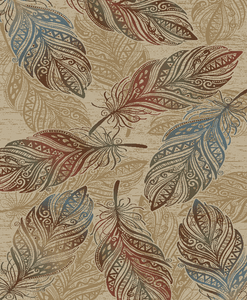 """Dean Feather Natural Lodge Cabin Mountain Outdoors Nature Area Rug Size: 5'3"""" x 7'3"""""""