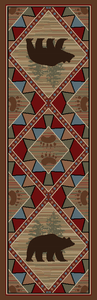 "Dean Echo River Lodge Cabin Western Ranch Runner Rug 2'3"" x 7'7"""